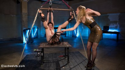 Photo number 5 from New Recruit: Crew Member Electro Fucked and Tormented shot for Electro Sluts on Kink.com. Featuring Mona Wales and Lilith Luxe in hardcore BDSM & Fetish porn.