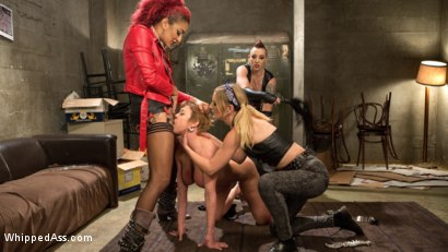 Photo number 3 from Dyke Bar: An All Girl Gangbang! shot for Whipped Ass on Kink.com. Featuring Mistress Kara, Daisy Ducati, Mona Wales and Dee Williams in hardcore BDSM & Fetish porn.
