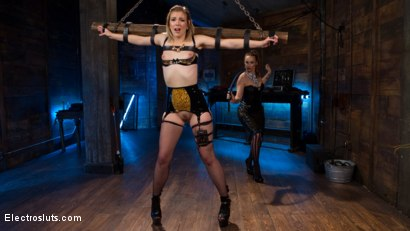 Photo number 7 from Electro Latex Dungeon: Bella Rossi shocks & fucks tough slut Ella Nova shot for Electro Sluts on Kink.com. Featuring Bella Rossi and Ella Nova in hardcore BDSM & Fetish porn.