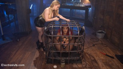 Photo number 2 from The Squirt Collector: Daisy Ducati squirts for science! shot for Electro Sluts on Kink.com. Featuring Daisy Ducati and Aiden Starr in hardcore BDSM & Fetish porn.