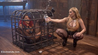 Photo number 3 from The Squirt Collector: Daisy Ducati squirts for science! shot for Electro Sluts on Kink.com. Featuring Daisy Ducati and Aiden Starr in hardcore BDSM & Fetish porn.