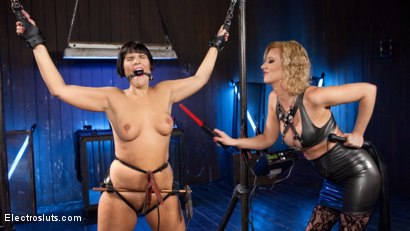 Photo number 3 from Insatiable Electroslut! shot for Electro Sluts on Kink.com. Featuring Cherry Torn and Rose Rhapsody in hardcore BDSM & Fetish porn.