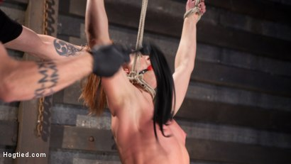 Photo number 3 from Fiery Red Head in Bondage, Tormented and Cumming like a Whore shot for Hogtied on Kink.com. Featuring Cheyenne Jewel and The Pope in hardcore BDSM & Fetish porn.