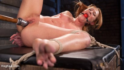 Photo number 7 from Fiery Red Head in Bondage, Tormented and Cumming like a Whore shot for Hogtied on Kink.com. Featuring Cheyenne Jewel and The Pope in hardcore BDSM & Fetish porn.
