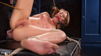 Photo number 8 from Fiery Red Head in Bondage, Tormented and Cumming like a Whore shot for Hogtied on Kink.com. Featuring Cheyenne Jewel and The Pope in hardcore BDSM & Fetish porn.