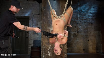 Photo number 10 from All Natural Southern Belle in Brutal Bondage, Tormented, and Devastating Orgasms!!  shot for Hogtied on Kink.com. Featuring Charlotte Cross in hardcore BDSM & Fetish porn.