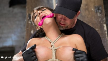 Photo number 5 from All Natural Southern Belle in Brutal Bondage, Tormented, and Devastating Orgasms!!  shot for Hogtied on Kink.com. Featuring Charlotte Cross in hardcore BDSM & Fetish porn.