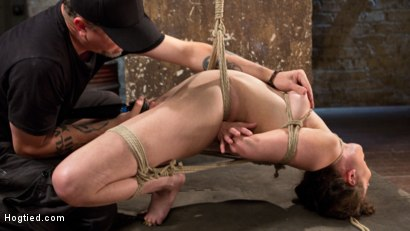 Photo number 10 from Tough as Nails shot for Hogtied on Kink.com. Featuring Casey Calvert  and The Pope in hardcore BDSM & Fetish porn.