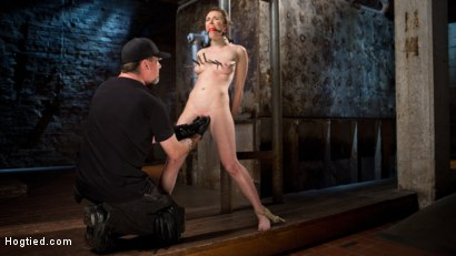 Photo number 2 from Tough as Nails shot for Hogtied on Kink.com. Featuring Casey Calvert  and The Pope in hardcore BDSM & Fetish porn.
