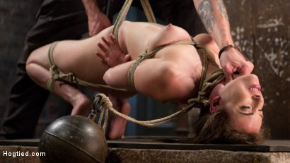 Photo number 11 from Tough as Nails shot for Hogtied on Kink.com. Featuring Casey Calvert  and The Pope in hardcore BDSM & Fetish porn.