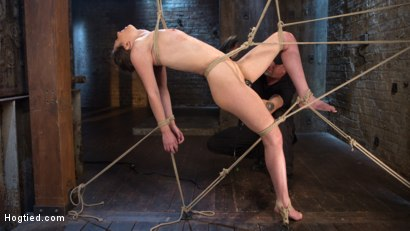 Photo number 5 from Tough as Nails shot for Hogtied on Kink.com. Featuring Casey Calvert  and The Pope in hardcore BDSM & Fetish porn.