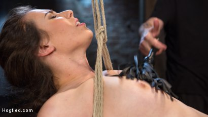 Photo number 6 from Tough as Nails shot for Hogtied on Kink.com. Featuring Casey Calvert  and The Pope in hardcore BDSM & Fetish porn.
