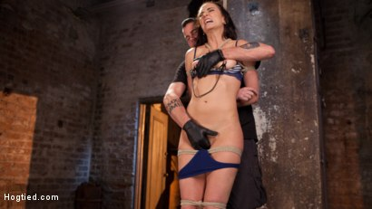 Photo number 2 from Brunette MILF Tormented in Bondage shot for Hogtied on Kink.com. Featuring Bianca Breeze and The Pope in hardcore BDSM & Fetish porn.