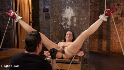 Photo number 7 from Brunette MILF Tormented in Bondage shot for Hogtied on Kink.com. Featuring Bianca Breeze and The Pope in hardcore BDSM & Fetish porn.