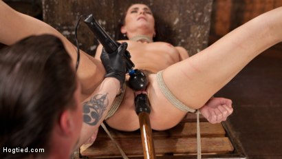 Photo number 9 from Brunette MILF Tormented in Bondage shot for Hogtied on Kink.com. Featuring Bianca Breeze and The Pope in hardcore BDSM & Fetish porn.