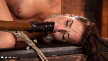 Photo number 12 from Brunette MILF Tormented in Bondage shot for Hogtied on Kink.com. Featuring Bianca Breeze and The Pope in hardcore BDSM & Fetish porn.