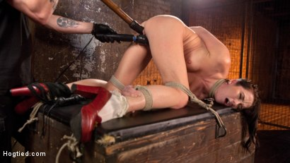 Photo number 6 from Brunette MILF Tormented in Bondage shot for Hogtied on Kink.com. Featuring Bianca Breeze and The Pope in hardcore BDSM & Fetish porn.