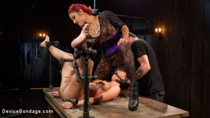 Photo number 9 from Turning the Tables shot for Device Bondage on Kink.com. Featuring Daisy Ducati, Roxanne Rae and The Pope in hardcore BDSM & Fetish porn.