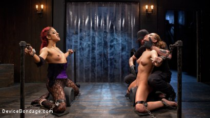 Photo number 14 from Turning the Tables shot for Device Bondage on Kink.com. Featuring Daisy Ducati, Roxanne Rae and The Pope in hardcore BDSM & Fetish porn.