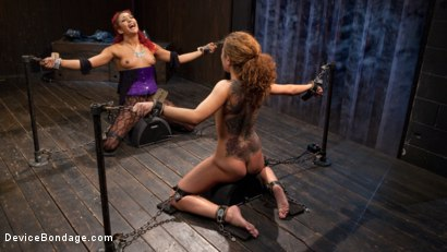 Photo number 15 from Turning the Tables shot for Device Bondage on Kink.com. Featuring Daisy Ducati, Roxanne Rae and The Pope in hardcore BDSM & Fetish porn.