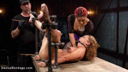 Photo number 16 from Turning the Tables shot for Device Bondage on Kink.com. Featuring Daisy Ducati, Roxanne Rae and The Pope in hardcore BDSM & Fetish porn.