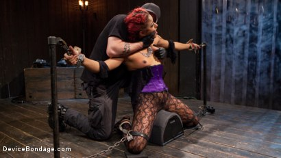 Photo number 4 from Turning the Tables shot for Device Bondage on Kink.com. Featuring Daisy Ducati, Roxanne Rae and The Pope in hardcore BDSM & Fetish porn.