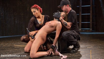 Photo number 6 from Turning the Tables shot for Device Bondage on Kink.com. Featuring Daisy Ducati, Roxanne Rae and The Pope in hardcore BDSM & Fetish porn.