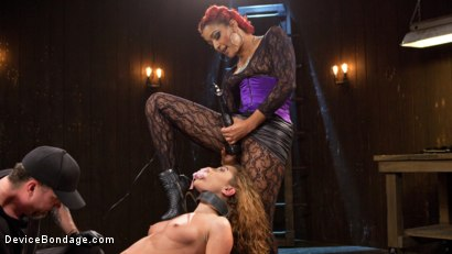 Photo number 7 from Turning the Tables shot for Device Bondage on Kink.com. Featuring Daisy Ducati, Roxanne Rae and The Pope in hardcore BDSM & Fetish porn.