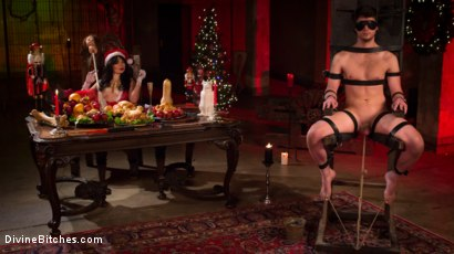 Photo number 1 from Merry Bitchmas! shot for Divine Bitches on Kink.com. Featuring Siouxsie Q and Grayson in hardcore BDSM & Fetish porn.