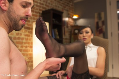Photo number 4 from Oral Fixations with Venus Lux shot for TS Seduction on Kink.com. Featuring Venus Lux and Jay West in hardcore BDSM & Fetish porn.
