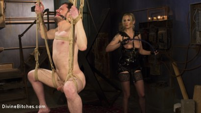 Photo number 13 from Two Days In Heaven: Part 1 shot for Divine Bitches on Kink.com. Featuring Maitresse Madeline Marlowe  and Slave Fluffy in hardcore BDSM & Fetish porn.