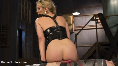 Photo number 11 from Two Days In Heaven: Part 1 shot for Divine Bitches on Kink.com. Featuring Maitresse Madeline Marlowe  and Slave Fluffy in hardcore BDSM & Fetish porn.