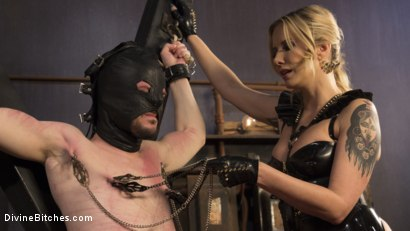 Photo number 15 from Two Days In Heaven: Part 1 shot for Divine Bitches on Kink.com. Featuring Maitresse Madeline Marlowe  and Slave Fluffy in hardcore BDSM & Fetish porn.