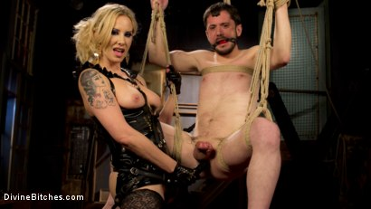 Photo number 4 from Two Days In Heaven: Part 1 shot for Divine Bitches on Kink.com. Featuring Maitresse Madeline Marlowe  and Slave Fluffy in hardcore BDSM & Fetish porn.