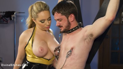 Photo number 28 from Two Days in Heaven: Part 2 shot for Divine Bitches on Kink.com. Featuring Slave Fluffy and Aiden Starr in hardcore BDSM & Fetish porn.