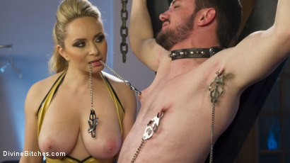 Photo number 2 from Two Days in Heaven: Part 2 shot for Divine Bitches on Kink.com. Featuring Slave Fluffy and Aiden Starr in hardcore BDSM & Fetish porn.