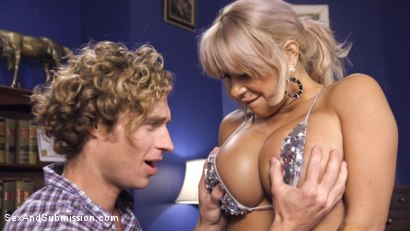 Photo number 3 from Dominating My Girlfriend's Mom's Big Fake Tits shot for Sex And Submission on Kink.com. Featuring Alyssa Lynn and Michael Vegas in hardcore BDSM & Fetish porn.