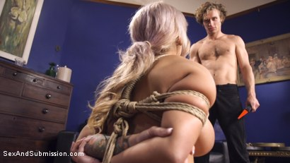 Photo number 6 from Dominating My Girlfriend's Mom's Big Fake Tits shot for Sex And Submission on Kink.com. Featuring Alyssa Lynn and Michael Vegas in hardcore BDSM & Fetish porn.
