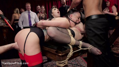 Photo number 11 from  Fresh Submissive Babes Tied Tight & Anally Punished shot for The Upper Floor on Kink.com. Featuring Rachael Madori, Aria Alexander and Mickey Mod in hardcore BDSM & Fetish porn.