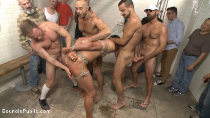Photo number 1 from Extra Innings - Bully Team Violates Pitcher in the Showers shot for Bound in Public on Kink.com. Featuring Jessie Colter, Aaron Reese and Alex Mason in hardcore BDSM & Fetish porn.