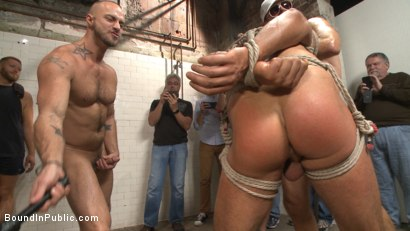 Photo number 15 from Extra Innings - Bully Team Violates Pitcher in the Showers shot for Bound in Public on Kink.com. Featuring Jessie Colter, Aaron Reese and Alex Mason in hardcore BDSM & Fetish porn.