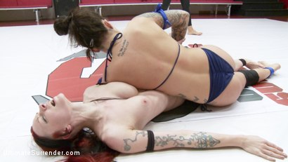 Photo number 15 from Rookie utterly Destroyed on mat with Orgasms  shot for Ultimate Surrender on Kink.com. Featuring Kajira Bound and Karmen Karma in hardcore BDSM & Fetish porn.