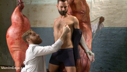 Photo number 2 from Health Inspectors Violate and Mummify a Hot Piece of Meat shot for Men On Edge on Kink.com. Featuring Dean Brody in hardcore BDSM & Fetish porn.