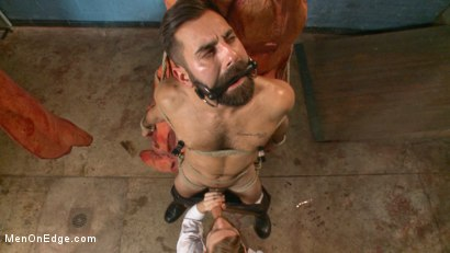Photo number 7 from Health Inspectors Violate and Mummify a Hot Piece of Meat shot for Men On Edge on Kink.com. Featuring Dean Brody in hardcore BDSM & Fetish porn.