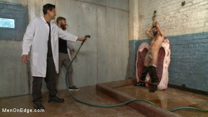 Photo number 8 from Health Inspectors Violate and Mummify a Hot Piece of Meat shot for Men On Edge on Kink.com. Featuring Dean Brody in hardcore BDSM & Fetish porn.