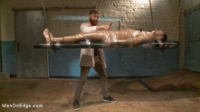 Photo number 12 from Health Inspectors Violate and Mummify a Hot Piece of Meat shot for Men On Edge on Kink.com. Featuring Dean Brody in hardcore BDSM & Fetish porn.