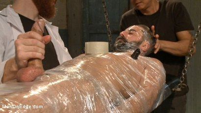 Photo number 9 from Health Inspectors Violate and Mummify a Hot Piece of Meat shot for Men On Edge on Kink.com. Featuring Dean Brody in hardcore BDSM & Fetish porn.