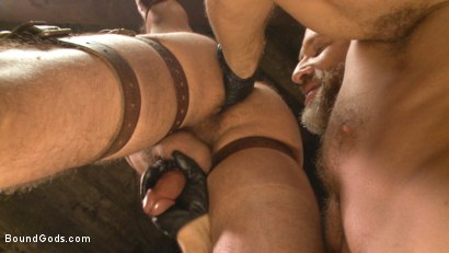 """Photo number 11 from """"I'll show you fucking leather!"""" - Two punks taken down in the gym shot for Bound Gods on Kink.com. Featuring Dirk Caber and Dale Cooper in hardcore BDSM & Fetish porn."""