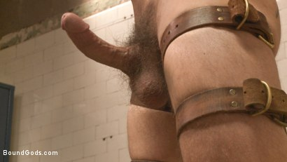 """Photo number 6 from """"I'll show you fucking leather!"""" - Two punks taken down in the gym shot for Bound Gods on Kink.com. Featuring Dirk Caber and Dale Cooper in hardcore BDSM & Fetish porn."""