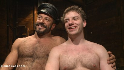 Photo number 15 from New Dom Pushes his Slave to the Limit shot for Bound Gods on Kink.com. Featuring Vinnie Stefano and Doug Acre in hardcore BDSM & Fetish porn.